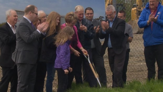 City officials, including Mayor Dennis O'Keefe, and MHA Steve Kent were on hand for a sod turning ceremony for a new community centre in Wedgewood Park.
