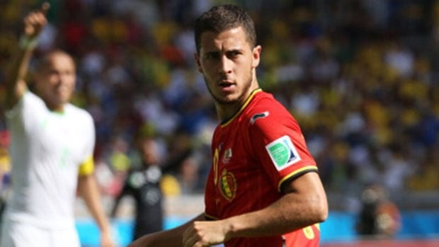 Belgium star Eden Hazard assisted on the game-winning goal that beat Algeria in the opening game.