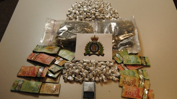 The RCMP in Natuashish seized almost 900 grams of marijuana and $22,000 in cash at a residence in the community.