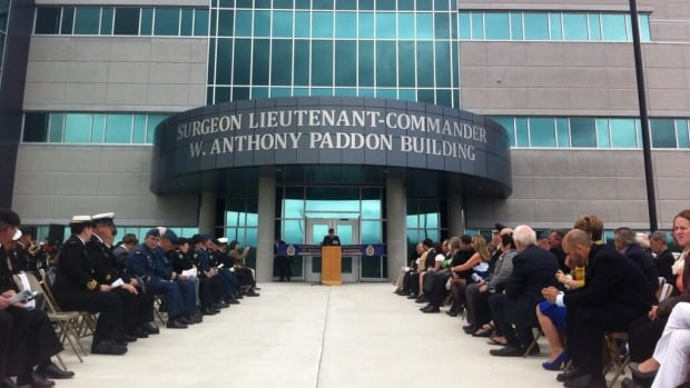 The Surgeon Lieutenant-Commander W. Anthony Paddon Building was officially opened on Saturday with a ribbon cutting ceremony.
