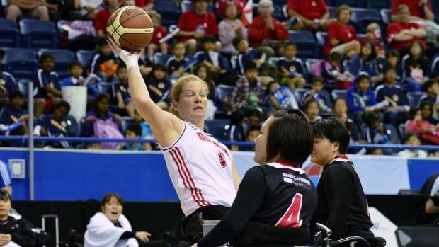 Team Canada, shown here competing against China, couldn't find the same success against Germany Monday.