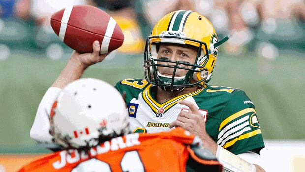 Eskimos quarterback Mike Reilly topped the CFL in passing yards and touchdowns last season while also leading all pivots with 709 yards on 84 carries for an 8.4-yard average.