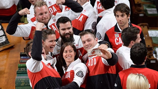 Members of the Canadian Olympic team visited the House of Commons during the Celebration of Excellence festivities this month.