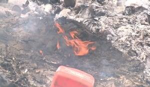Garbage burning in Burgeo