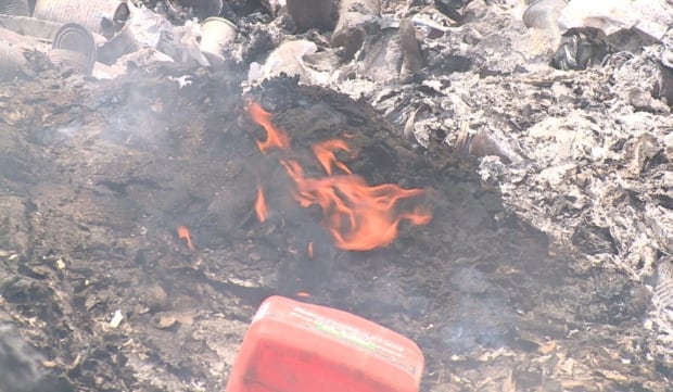 Garbage burning in Burgeo