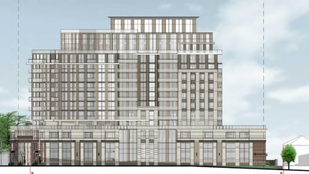 An artist's rendering of the proposed condo building at 31 Alexandra Ave. in Uptown Waterloo.