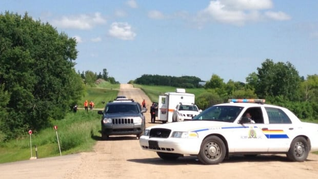 RCMP conduct a homicide investigation on Clarence Avenue, about eight kilometres south of Saskatoon.