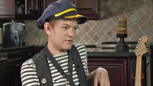Sum 41 frontman Deryck Whibley is seen talking to CBC News in Ajax, Ont., on June 20, 2014.