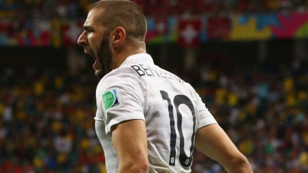 France's Karim Benzema has scored four goals in his first two matches at the FIFA World Cup.
