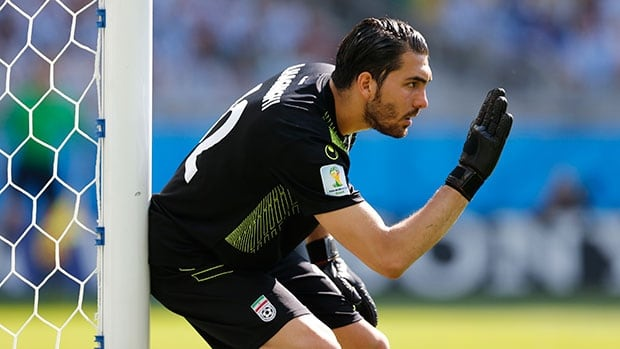 Goalkeeper Alireza Haghighi was spectacular in Iran's loss to Argentina.
