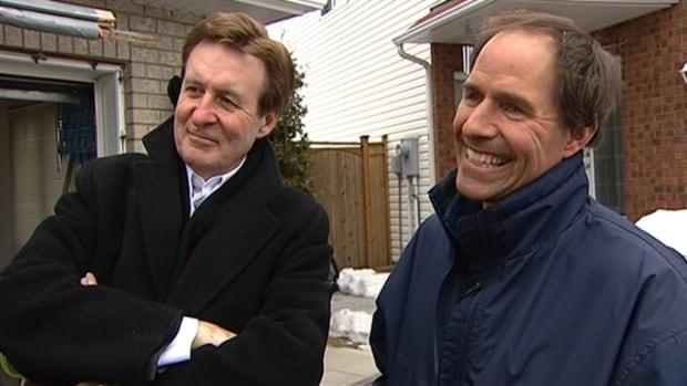 CBC Ottawa reporter Cory O'Kelly, left, tells stories in his own unique way. He retires in June 2014 after more than three decades as a reporter.