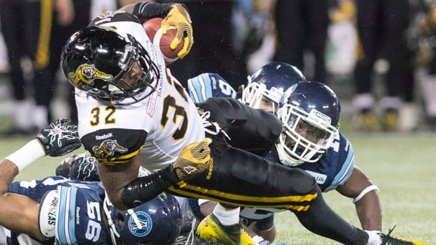 Tiger-Cats running back C.J. Gable's goal this year is to record 1,000 yards rushing and receiving, something that's never been accomplished in the CFL. Robert Drummond came close in 1997 with the Toronto Argonauts.