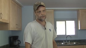 Jeff Levesque, whose home was damaged in the CN derailment near Plaster Rock