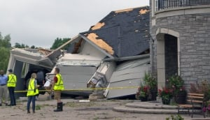 Home damaged by tornado in New Tecumseth, Ont.