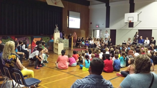 Students, parents and staff gathered at St. Brendan school on Wednesday to say goodbye. The school will close its doors forever this week when school is dismissed for the summer.