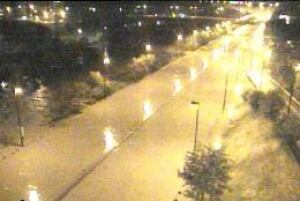 Flooding on DVP as seen on traffic cam