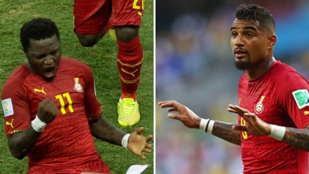 Ghana threw Sulley Muntari and Kevin-Prince Boateng out of its World Cup squad for disciplinary reasons on Thursday, plunging the African team into further chaos ahead of its decisive group-stage match against Portugal.