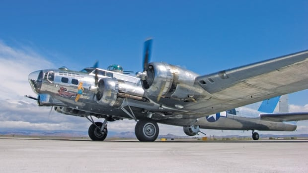 The Sentimental Journey, a B-17G Flying Fortress owned by the U.S.-based Commemorative Air Force, is one of the last of the iconic American WWII bombers still flying.