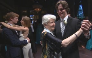 Hedy Bohm dances with Rowan Kelly at Toronto prom.