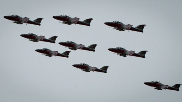 The Canadian Forces Snowbirds will be performing at the Waterloo Air show this weekend.
