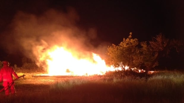 Fire destroyed the Criddle Vane Homestead in western Manitoba on Wednesday night.