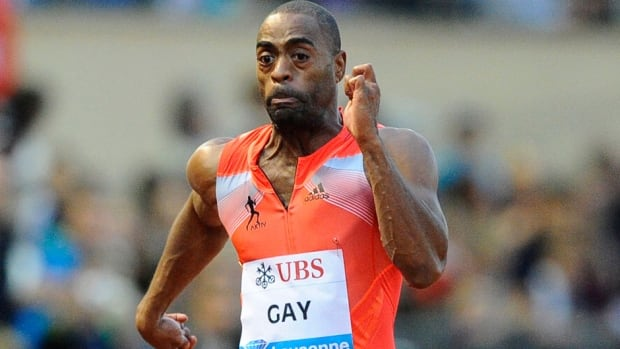 Tyson Gay, seen here in the men's 100 metres during a Diamond League meet in Lausanne, Switzerland last July, is set to return from his doping suspension. He had his one-year ban reduced for co-operating with the U.S. Anti-Doping Agency's investigation.