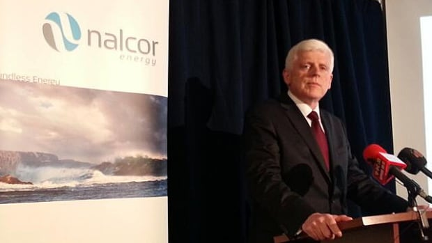 Nalcor Energy CEO Ed Martin addresses reporters about Muskrat Falls costs at a June 26, 2014, media briefing.