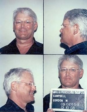 Gordon Campbell's mug shots from Hawaii
