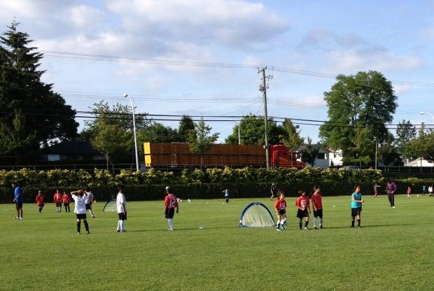 Girls play soccer at Surrey's Bear Creek Park