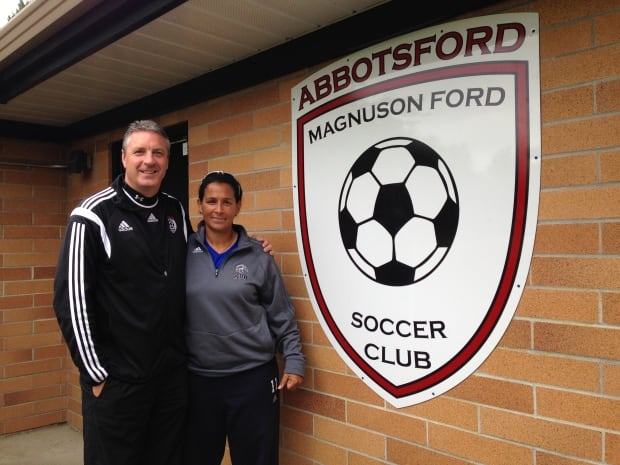 Julie King and Ian Knight from the Abbotsford Soccer Club