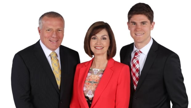 Cohosts Jonathan Crowe and Debbie Cooper and meteorologist Ryan Snoddon anchor each edition of Here & Now.