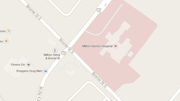 The area in Milton where a construction worker was struck and killed by a dump truck.