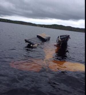 Float plane in Garnish Pond