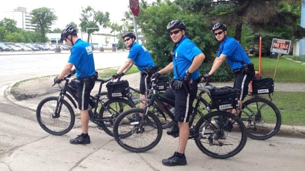 Members of Winnipeg's new cadet bike patrol were on display Friday.