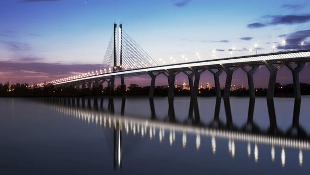 The new Champlain Bridge will cost between $3 billion and $5 billion and is scheduled for completion in 2018.