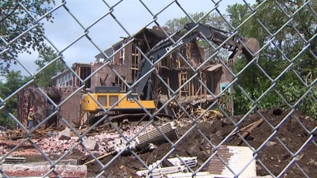 Demolition of the former Halifax Infants' Home on Tower Road began Friday.