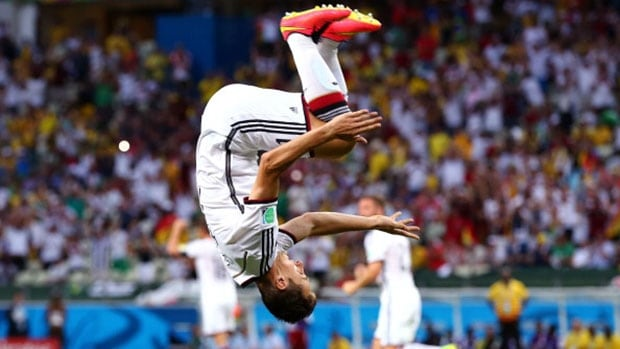 Miroslav Klose has done a lot of celebrating for Germany, including tying the all-time record for World Cup goals with 15.