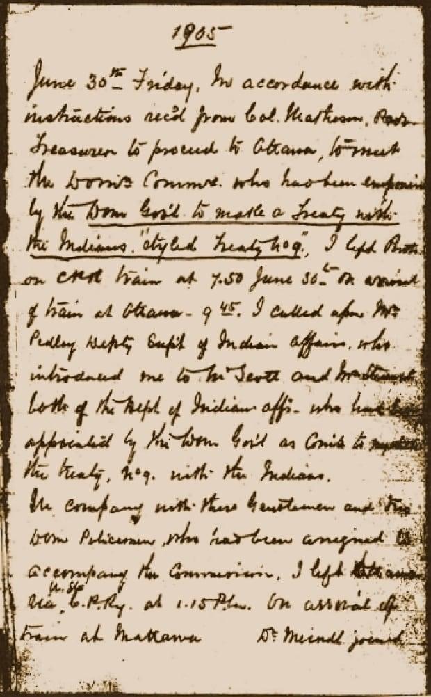 Daniel MacMartin's 1905 Treaty 9 Diary