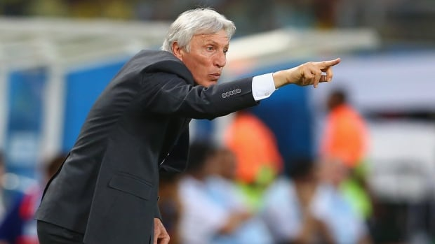 Ahead of his team's match with Uruguay, head coach Jose Pekerman of Colombia was unwilling to answer questions about suspended striker Luis Suarez on Friday.
