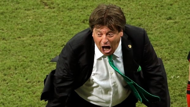 Mexico's head coach Miguel Herrera's wild goal celebrations are making him a huge hit with fans at the FIFA World Cup in Brazil.