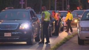 RCMP impaired driving roadblock in Coquitlam, June 27, 2014