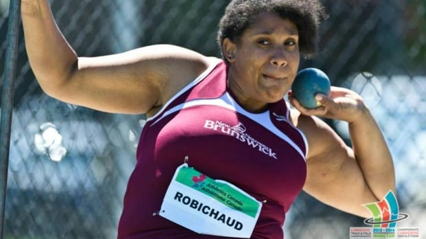 Dieppe's Christel Robichaud won gold in the F56 discus throw and a bronze in the wheelchair shot put event at the 2014 Canadian Track and Field Championships.