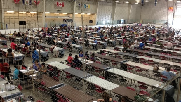 Super Bingo took over the Yellowknife Multiplex on Saturday. People were lined up into the street in order to have a chance to win some of the $100,000 in prize money. 'This is kind of opening my eyes to this whole new world of bingo culture in the Northwest Territories,' said organizer Nancy MacNeill.