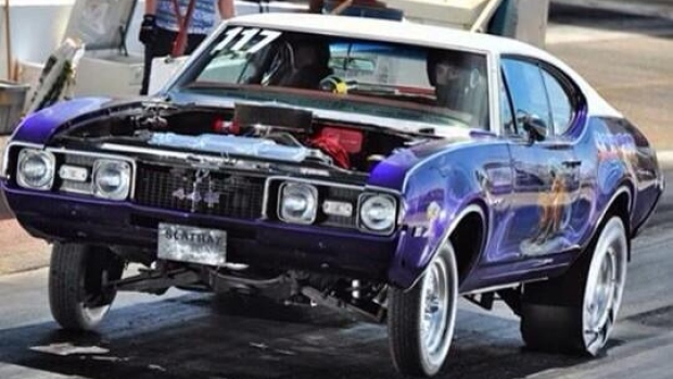 The Scat Rat race car was stolen from a Saskatoon auto body shop this weekend.