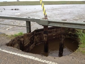 Rain damages infrastructure at Redvers