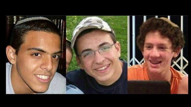 This undated image released by the Israel Defence Forces shows the three slain teens, from left to right: Eyal Yifrah, 19, Gilad Shaar, 16, and Naftali Fraenkel, a 16-year-old with dual Israeli-American citizenship.
