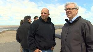 Selinger tours flood zones