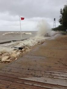 Winnipeg Beach flood risk, July 1, 2014