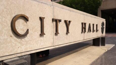 Winnipeg city hall sign