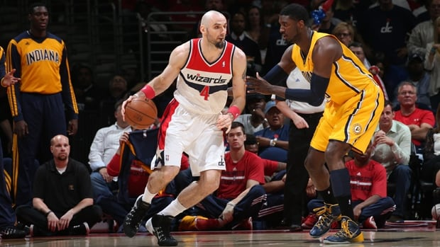 Marcin Gortat (4) averaged 13.2 points, 9.5 rebounds, 1.5 blocks and 32.8 minutes in 81 games for the Wizards last season.